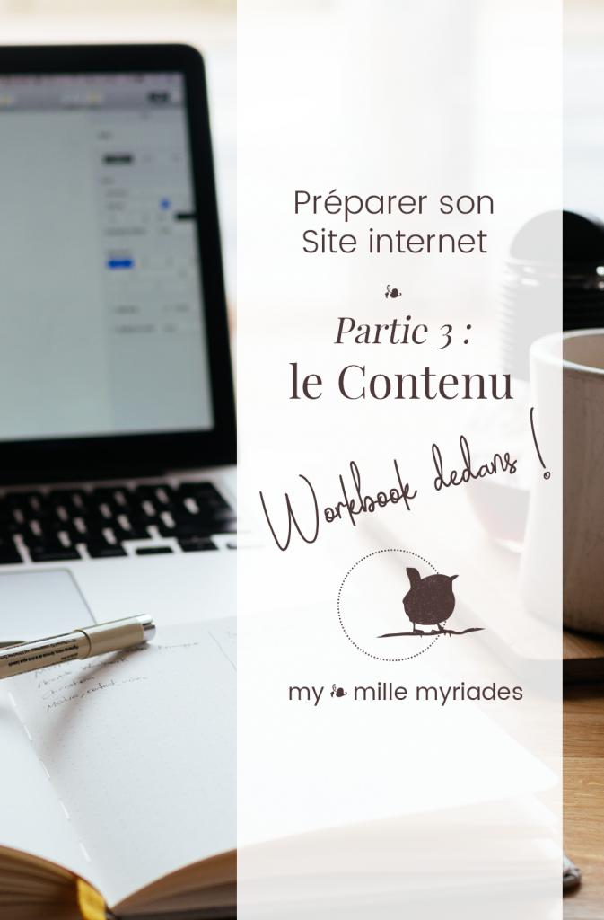 Préparer son site web - créer le contenu