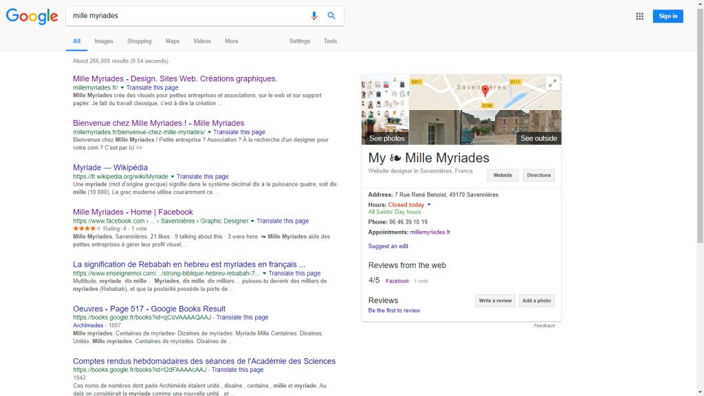Google My Business - Liste