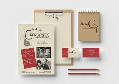Charte Graphique du restaurant Autour d'un Cep