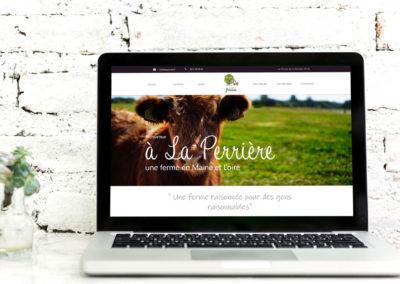 La Ferme de la Perrière - Site Web
