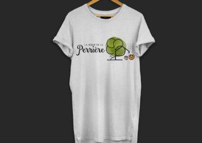 T-shirt logo La ferme de la Perrière