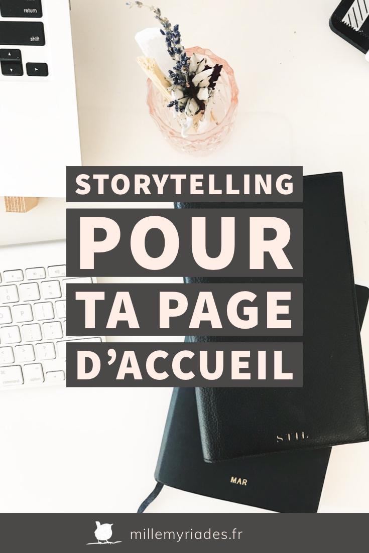 Pin Storytelling pour ta page d'accueil