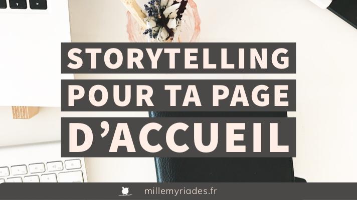 Storytelling pour une page d'accueil efficace