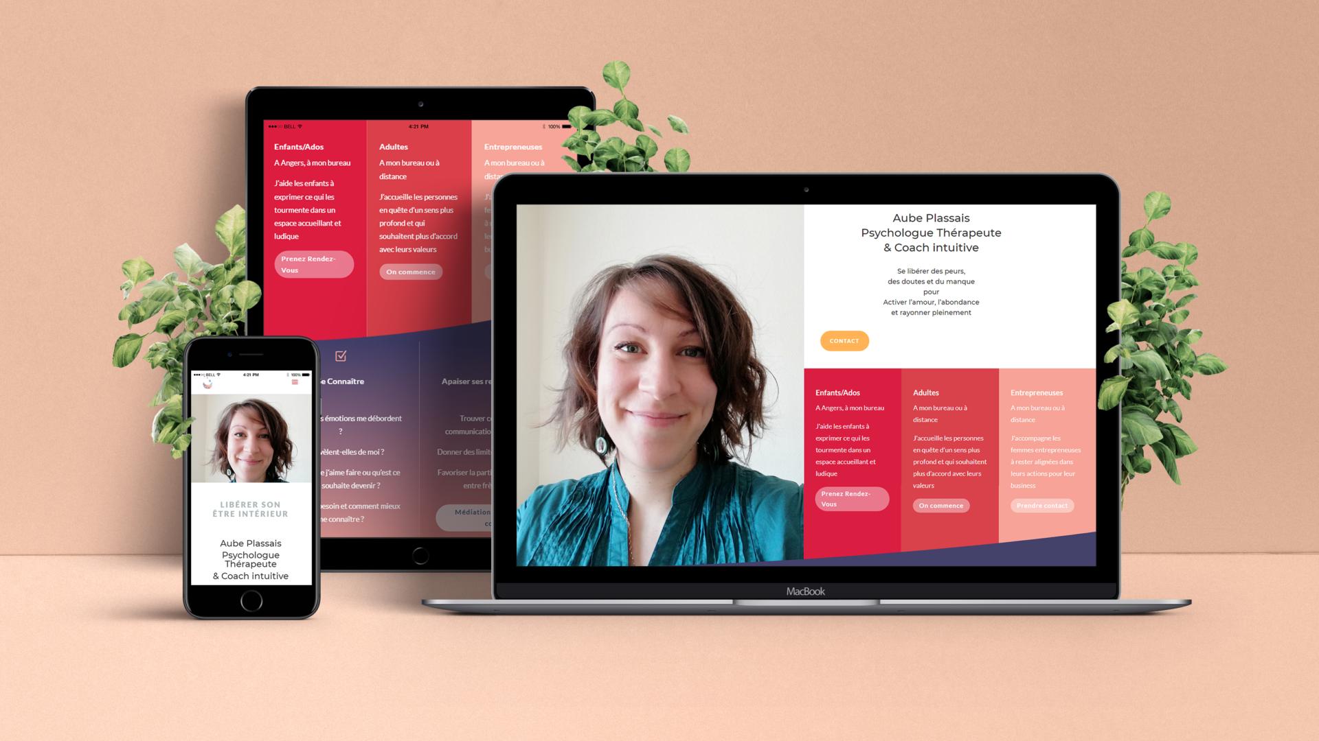 Aube Plassais Design Site Web