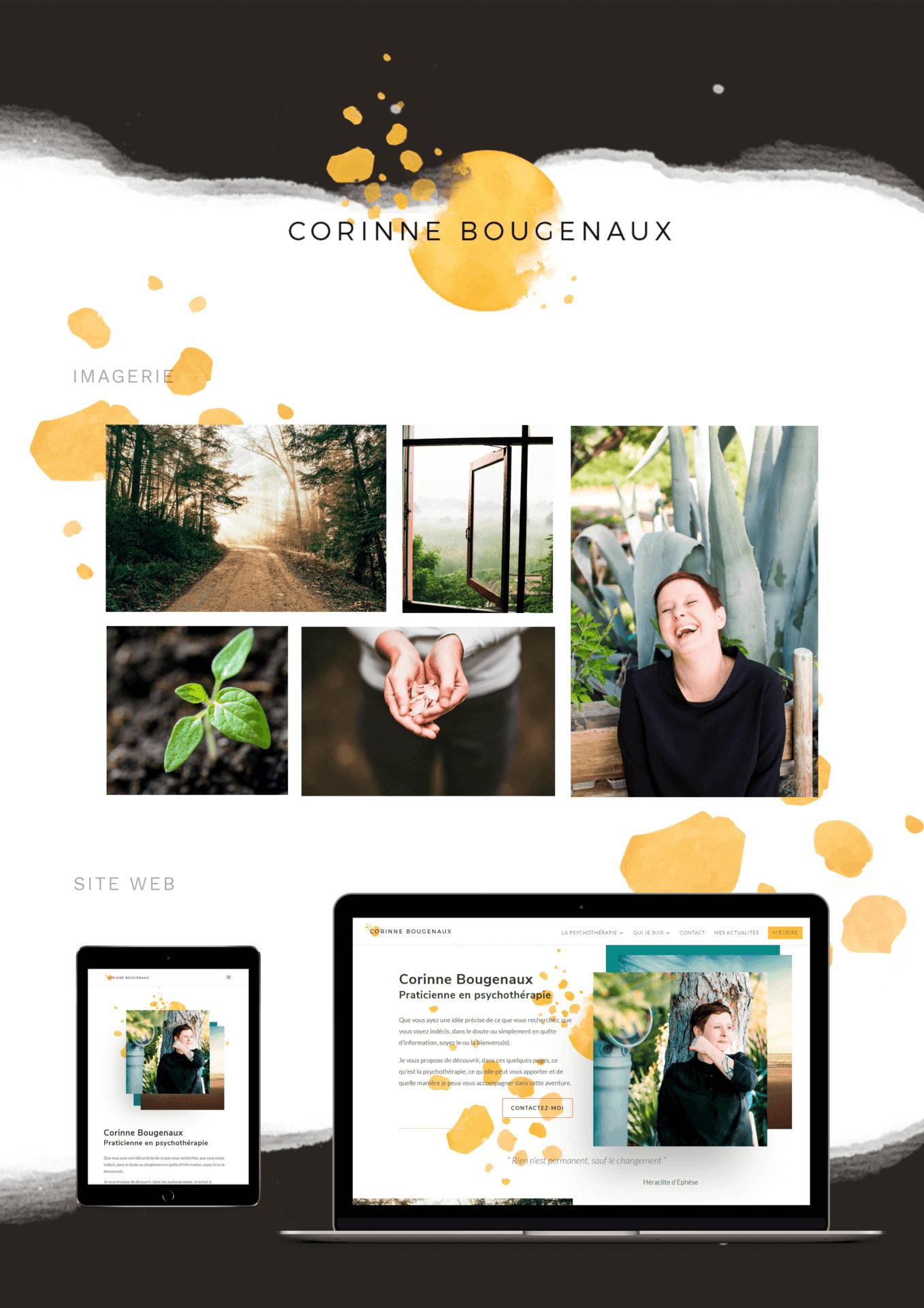 Corinne Bougenaux Identité visuelle - Brandboard imagerie